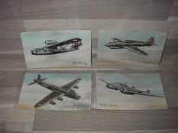 Serie Van 8 Postkaarten - Vliegtuigen - André Régnier - 1939-1945: 2ème Guerre