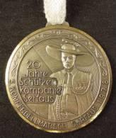M01466 20 Jahre Schützen Kompanie Serfaus 1978 D.M. Komperdellmarsch (56 G.) - Jetons & Médailles