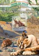 nig13125b Niger 2013 Wild cats Africa s/s Michel: 2138 / Bl.166