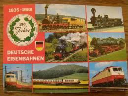 150 Jahre - Deutsche Eisenbahnen  1835-1985 - -train   - D103469 - Trenes