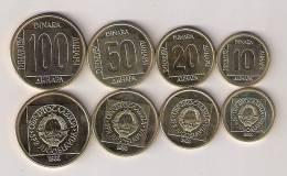 Yugoslavia 1988 COIN SET 10,20,50 And 100 Dinara UNC/AUNC KM#131-132-133-134 X 10 Pcs For Dealers - Joegoslavië