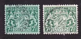 Bavaria, Scott #O8-O9, Used, Coat Of Arms, Issued 1916 - Bavaria