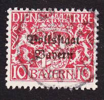 Bavaria, Scott #O23, Used, Coat Of Arms Overprinted, Issued 1918 - Bavaria