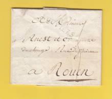- Marque Postale De LOUVIERS - 23 Brumaire An 6 ( 1797 ) Courrier De M. Barancourt Breton à Anest, Agent De Change ROUEN - Marcofilia (sobres)