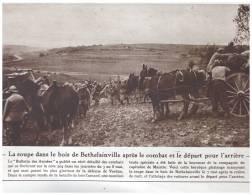 GUERRE 14-18 BOIS DE   BETHELAINVILLE    Capitaine De Maistre - Old Paper