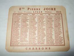 Calendrier Petit Format 1951 Ets Pierre JOIRE 27 Quai Vauban LILLE - CHARBONS- - Calendriers