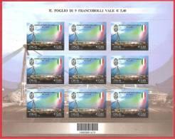 ITALIA 2012 - FOGLIETTO - MINIFOGLIO - JUVENTUS CAMPIONE D´ITALIA - 0,60 € X 9 - 1946-.. République