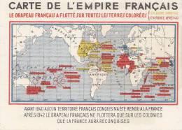 Histoire - Propagande 2ème Guerre Mondiale - Carte Colonies Françaises - Historia