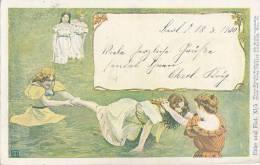 Illustrateurs - Art Nouveau - Wiener Künstler Postkarte - Hampel Walter - Artist Vienne - PostMark Berlin 1900 - Illustrateurs & Photographes