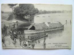 Cpa, Très Belle Vue Animée, Afrique Occidentale, Haute Guinée, Les Bords Du Milo à Kankan - French Guinea