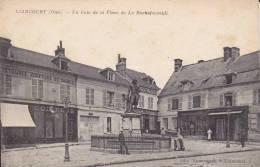 CPA LIANCOURT OISE UN COIN DE LA PLACE DE LA ROCHEFOUCAULT COIFFEUR STATUE ANIMATION - Liancourt
