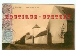 ACHAT IMMEDIAT - FERMES - Ferme De Mont Saint Jean à Waterloo - Farm - Carte Voyagée 1909 - Dos Scanné - Fermes