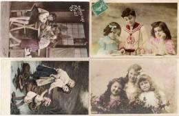 4 CPA - Enfants   (54306) - Tarjetas De Fantasía
