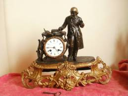 PENDULE C. DETOUCHE Fournisseur De L´Empereur, époque NAPOLEON III - FONCTIONNE - Horloges