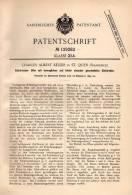 Original Patentschrift - A. Keller In St. Ouen , 1899 , Four électrique à électrodes , Seine-Saint-Denis !!! - Historische Dokumente