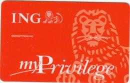 GREECE - ING, My Privilege Card, Sample - Unclassified