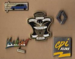 LOT DE 5 PIN´S Renault Divers. - Renault