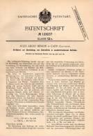 Original Patentschrift - J. Besson In Caen , Calvados , 1900 , Darstellung Von Chloroform , Chimie , Chemie !!! - Historische Dokumente