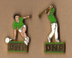 LOT DE  2 PIN´S BNP , Tennis, Golf. - Tennis