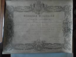 Diploem Medaille Militaire Second Empire Gendarme Cie De La Seine 1867 - Diplômes & Bulletins Scolaires