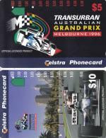 Australia, A960212 - A960223a, Set Of 2 Cards, Melbourne Grand Prix, 2 Scans. - Australien