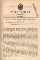 Original Patentschrift - Rettungsfenster AG In Beuel B. Bonn , 1899 , Feuerleiter Für Fenster , Fensterbau , Feuerwehr ! - Architektur