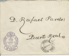 CC POR CARTERO HONORARIO DOCTOR THEBUSSEM CON MARCA FRANQUICIA Y MAT MEDINA SIDONIA CADIZ AL DORSO MAT PUERTO REAL - Spagna
