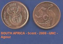 SOUTH AFRICA - 5cent - 2009 - UNC - Agouz - South Africa