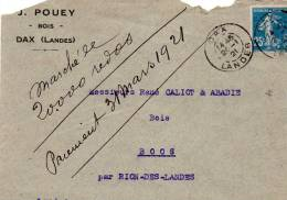 Dax Landes Lettre J.Pouey - Post