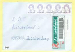 AANGETEKENDE * BRIEFOMSLAG Gelopen Naar LEIDERDORP  (7477) - Periode 1980-... (Beatrix)
