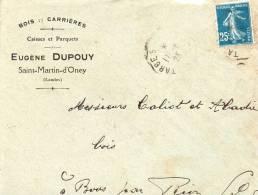 Saint Martin Doney Lettre De Eugene Dupouy Cachet Leger Ambulant Tarbes A? - Post
