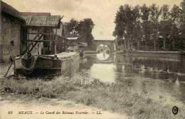 77-MEAUX- Le Canal Des Bateaux Fournier-(Batellerie,Péni Ches) - Meaux