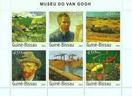 Gb3522 Guinea Bissau 2003 Paintings Museum Of Van Gogh S/s Bridge Michel: 2682-2687 - Impressionisme