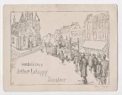 GAUJACQ - Dessin Plume H. Cayau - Convoi Funéraire - Condoléances Arthur Latappy, Sénateur Des Landes - Décédé En 1919 - France