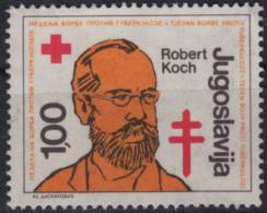 Robert Koch / Tuberculosis / Nobel Prize - Yugoslavia - 1980´s - USED - Croix-Rouge