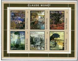 Gb1207 Guinea Bissau 2001 Painting Claude Monet S/s Michel: 1612-1617 - Impressionisme