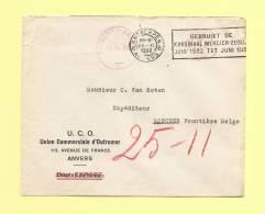 Kardinaal Mercier Zegel - 1932 - Anvers - Destination Eeschen - Covers & Documents