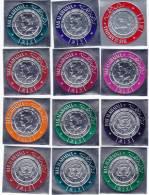 Ras Al-Khaima,1968 -5th Ann Death Pr Kennedy,set Of 18 Silver Stamps,Rare Issue Compl.set-MNH- 2 Scans-SKRILL ONLY - Ras Al-Khaima
