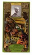 """CHROMO  PUBLICITAIRE  """" LEFEBVRE - UTILE """"  Gaufré  /  ALEXANDRE GEORGES , Compositeur  ( Cliché NADAR ) /  MIARKA - Lu"""