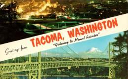 TACOMA  WASHINGTON   Gateway To Mount Rainier Carte écrite En Bon état - Tacoma
