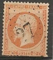 Fr  Pub Prix Fixe   YT N° 23 Oblitere Etoile De Paris  N° 27 - 1862 Napoleone III