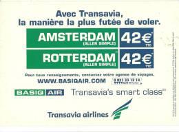 AVION AVIATION PUBLICITE COMPAGNE TRANSAVIA AIRLINES AMSTERDAM ROTTERDAM EDIT CART'COM - Sonstige