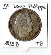 5 FRANCS LOUIS PHILIPPE 1835 B - France