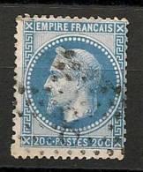 Fr  Pub Prix Fixe   YT N° 29 Oblitere Etoile De Paris   N° 8 - 1863-1870 Napoleone III Con Gli Allori