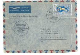 SVIZZERA - SUISSE -   DA LOCARNO  - INTERNO   - ANNO 1963 - LETTERA - POSTA AEREA - Ganzsachen