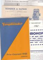Catalogue Tarifs Voigtländer 1935 + Documents - Fotografía