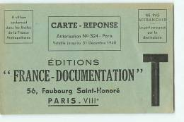 PARIS VIII - 56 Faubourg Saint Honoré - Carte Réponse Pour Editions France Documentation : Livre Maman Et Bébé - Arrondissement: 08