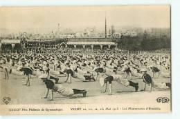 VICHY - Mai 1913 - Fête Fédérale De GYMNASTIQUE - Mouvements D'ensemble - Edition E.L.D. - 2 Scans - Vichy