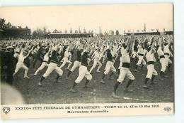 VICHY - Mai 1913 - Fête Fédérale De GYMNASTIQUE - Mouvements D´ensemble - Edition E.L.D. - 2 Scans - Vichy