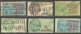FRANKREICH France Lot Timbres Fiscal Steuermarken Tax Revenue Stamps O - Fiscaux